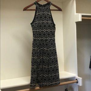 Black and cream designed dress